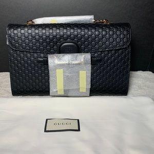 Gucci Emily Chain Guccissima Leather